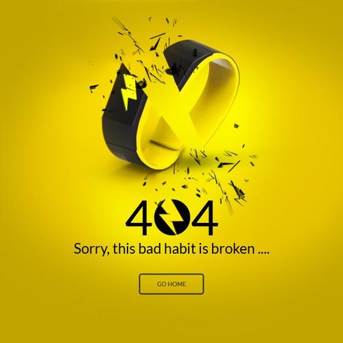 404 Error page concept