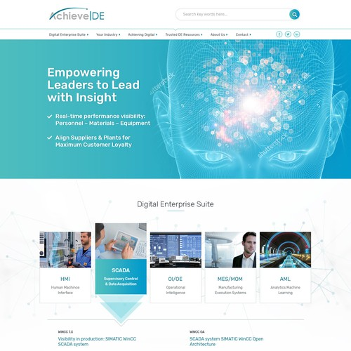 Digital/Smart manufacturing software website design