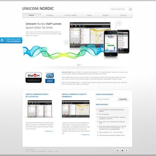 Unicom Nordic needs a new website design