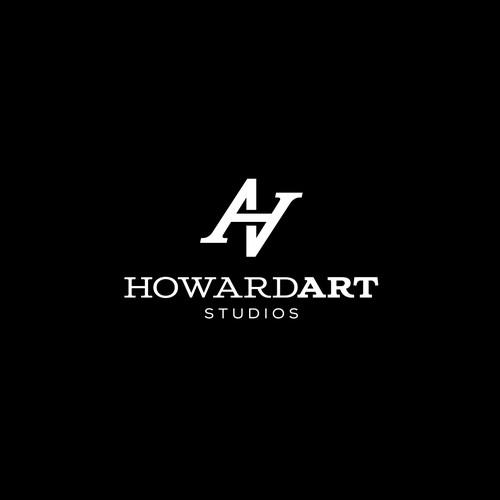 Simple monogram for HowardArt Studio
