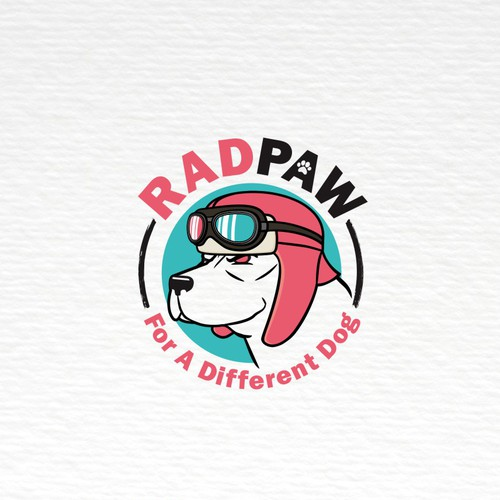 A rad logo for cool dog gears store