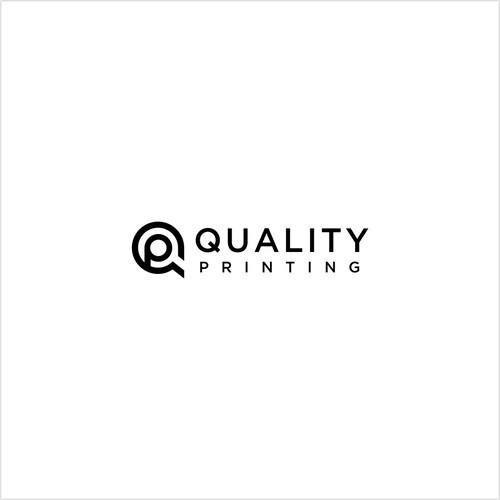 letter Q + P monoline concept