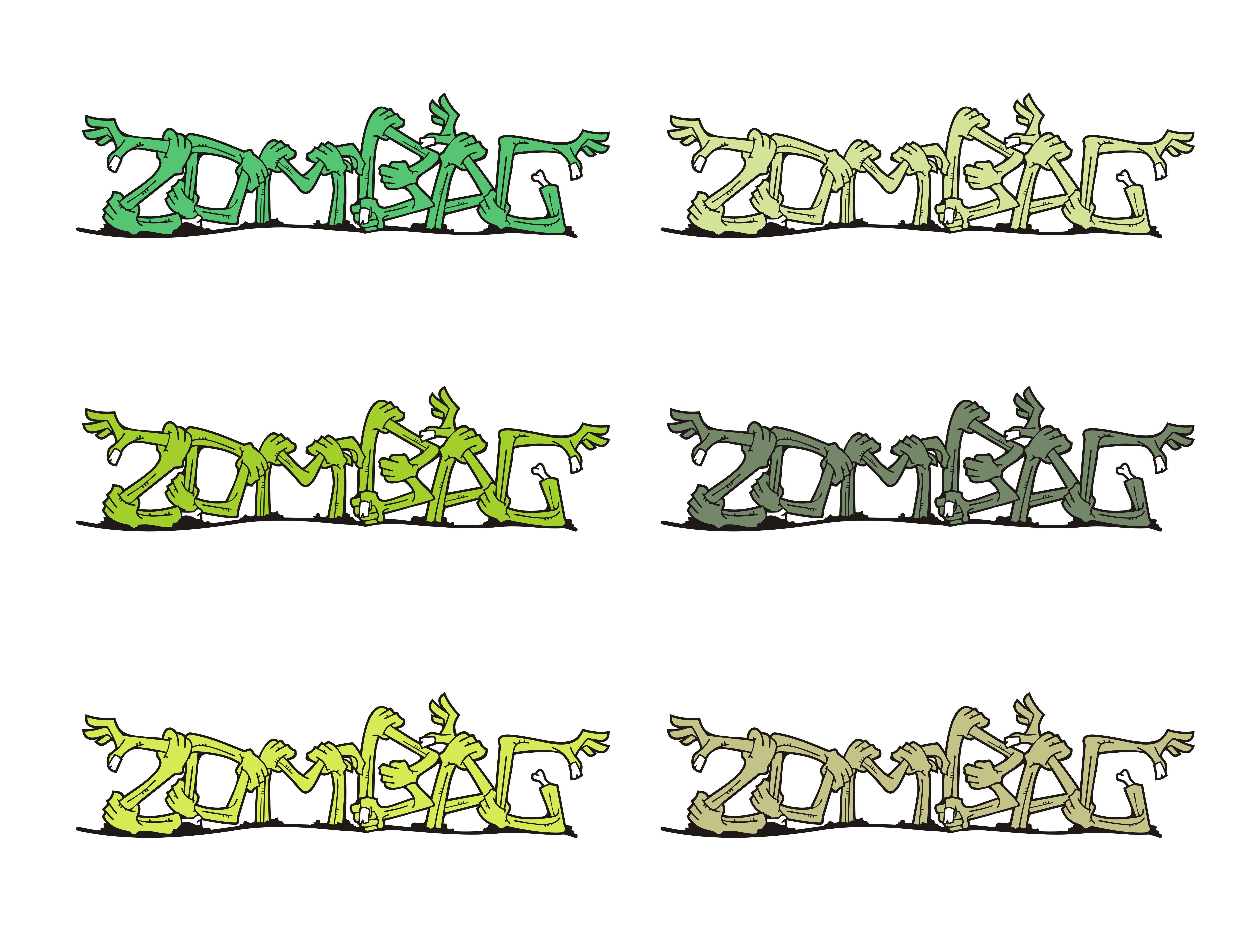 Zombag: Zombie Arm Font Logo