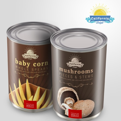 Label designs for canned food items