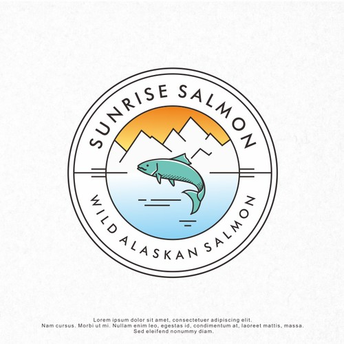 Logo Design for Sunrise Salmon