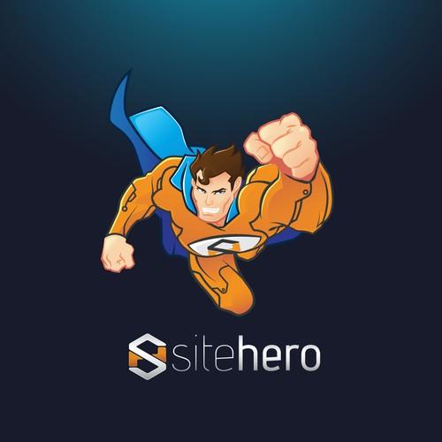 Superhero Mascot for SiteHero