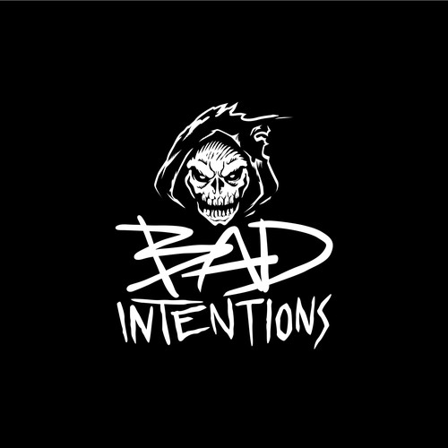 Skull logo concept for Bad Intentions