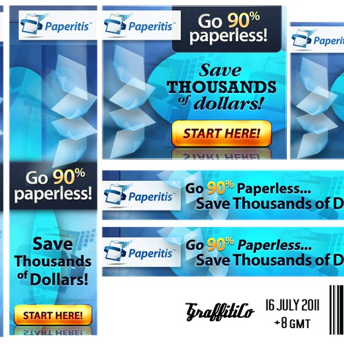 Compelling Banners for Going Paperless Affiliate Program