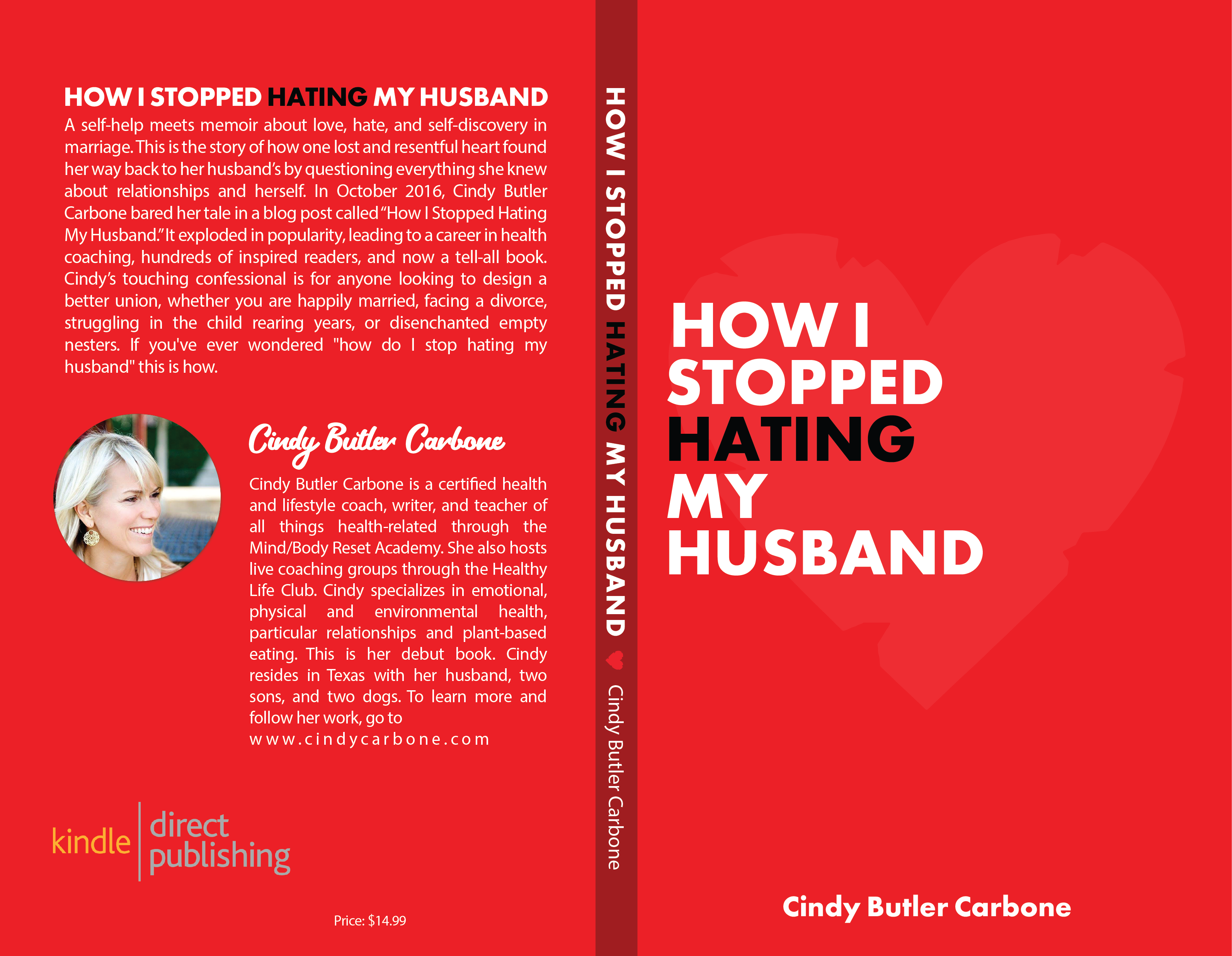 """How I stopped hating my husband"" self-help memoir needs a cover that inspires hope."