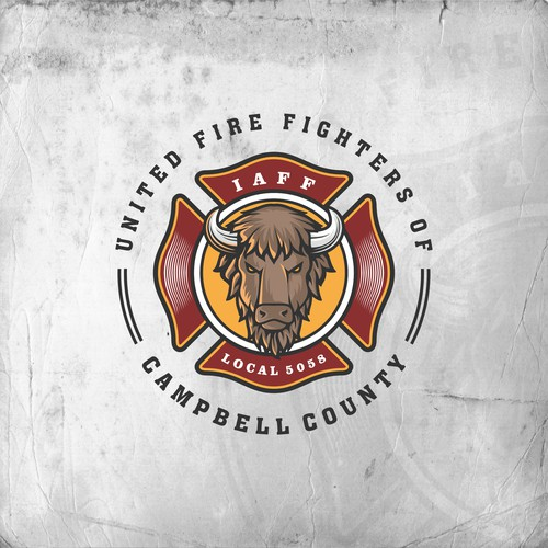 Fire Fighter Logo Badge