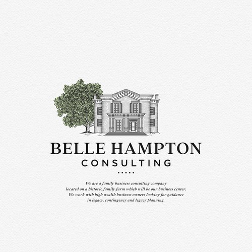 Classic Logo for Belle Hampton Consulting