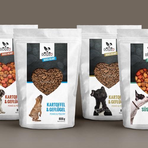 Etikett für Hundefutterverpackung