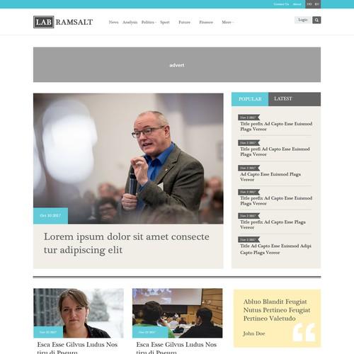 Newspaper  magazine design and framework