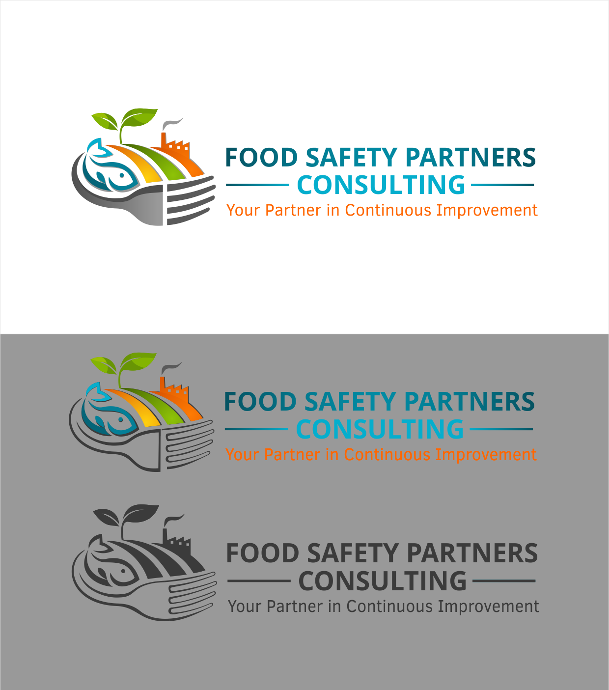 "Create a design for a food safety consultant working ""from farm to fork"""
