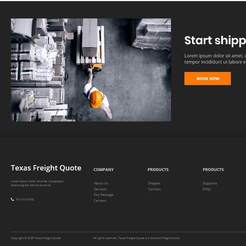 Landing Design for TruckFreightQuote