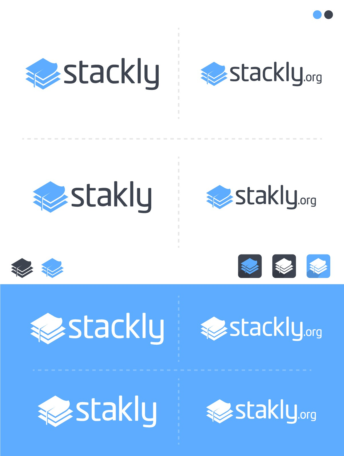 Make stackly a logo that helps scholarly research loosen its tie