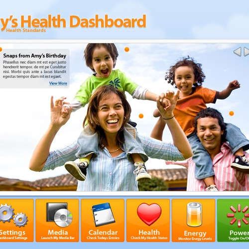 Home Dashboard Display for Energy/Health Monitoring