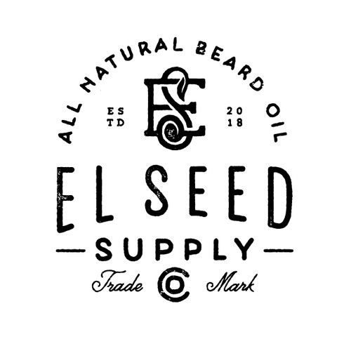 VINTAGE RUSTIC HANDRAWN LOGO FOR EL SEED SUPPLY CO