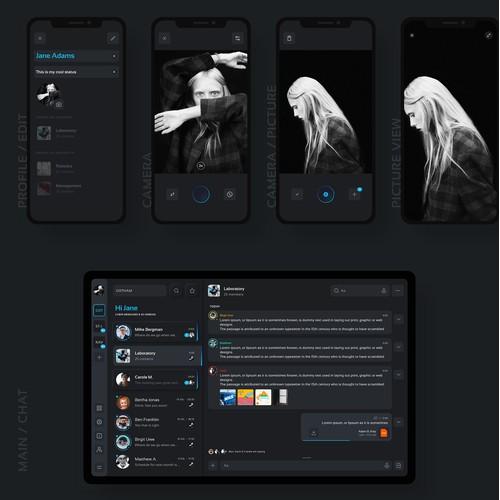 Multi-platform Messenger App used by hospitals