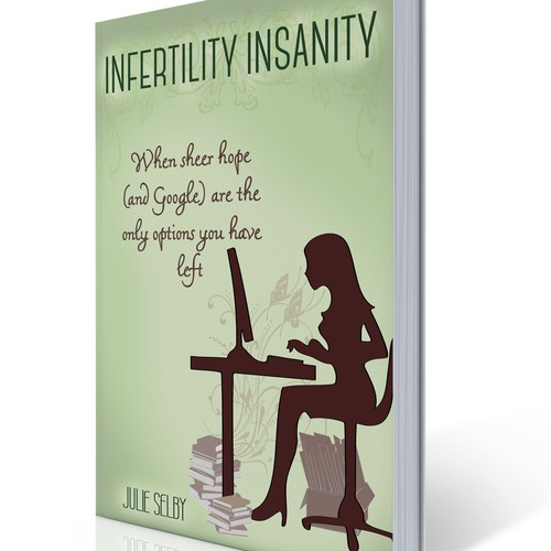 Create a brilliant cover for a humorous memoir about overcominginfertility