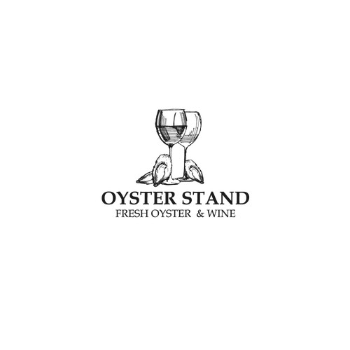 Logo design for oyster and wine bar