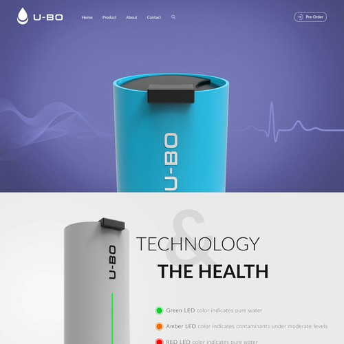 pre kicks smart bottle landing page