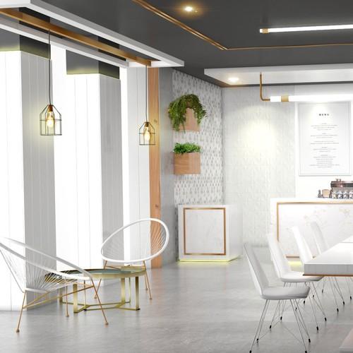 3D Retail Cafe Space design
