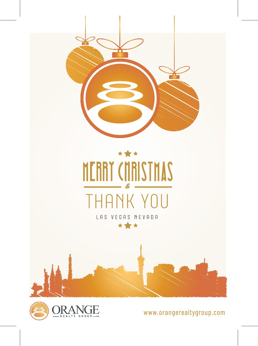 Orange Realty Group Christmas Card - Relate our Name to it