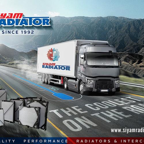 Print ad design for RADIATORS BRAND