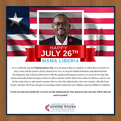 Independence Day Message for Facebook