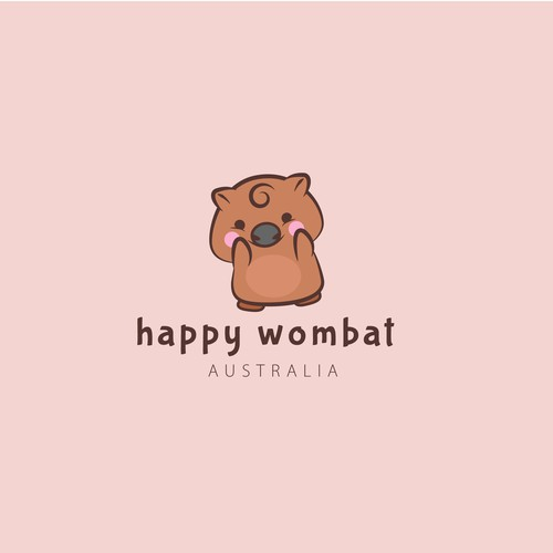 happy wombat