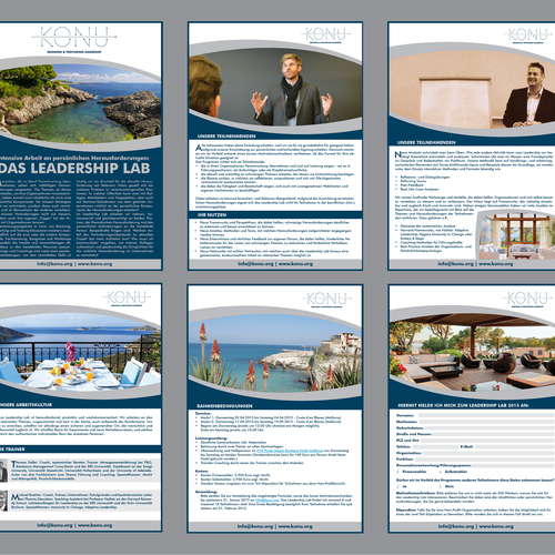 Electronic Flyer for Leadership Training on beautiful Island