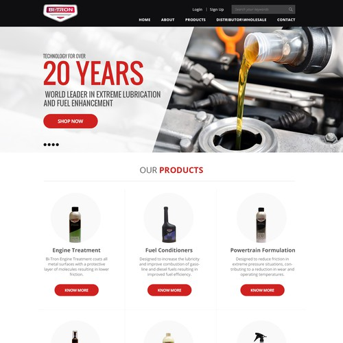 Leading Automotive Lubrication Company Requires Website Re-Design