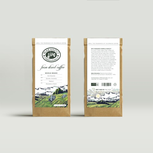 A captivating coffee label