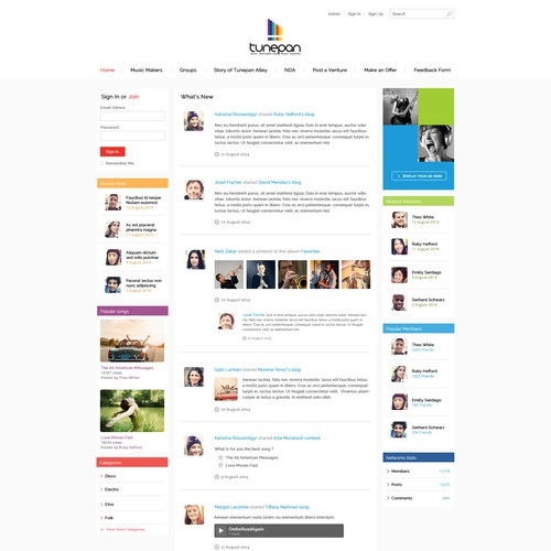 Social network for music makers