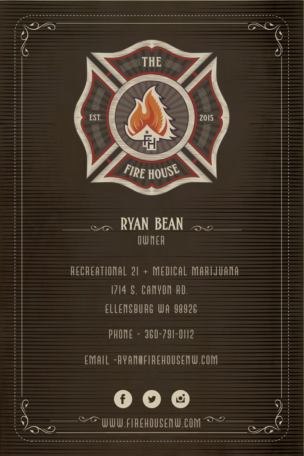Business Card for Ryan Bean