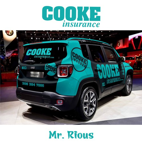 Jeep renegade wrapping for Cooke Insurance