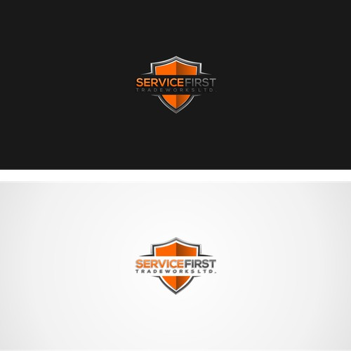 Logo designs for service first tradeworks ltd