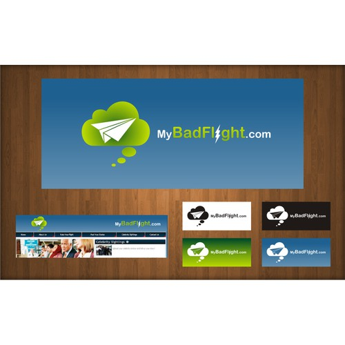 Create the next logo for MyBadFlight.com