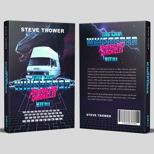 80s video game themed ebook cover