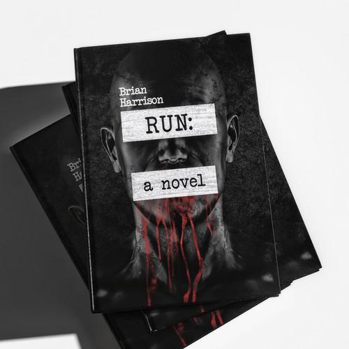 book cover for a new, dark murder thriller
