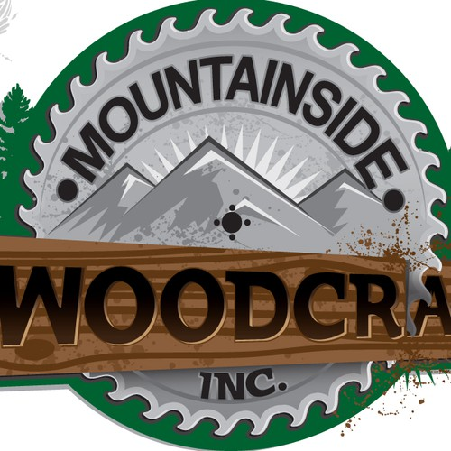 Create the next logo for MOUNTAINSIDE WOODCRAFT, INC