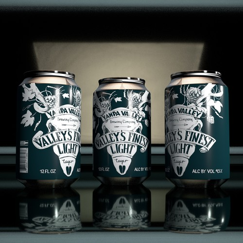 Beer can label design and Illustration