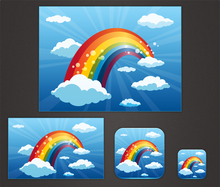 Can You Create a Fun Rainbow and Clouds Picture For Us?