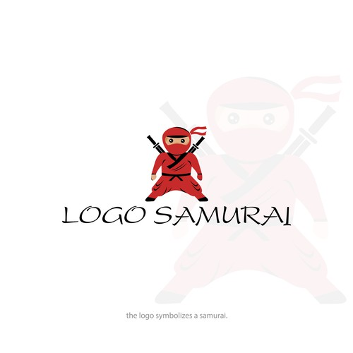 Logo concept for samurai