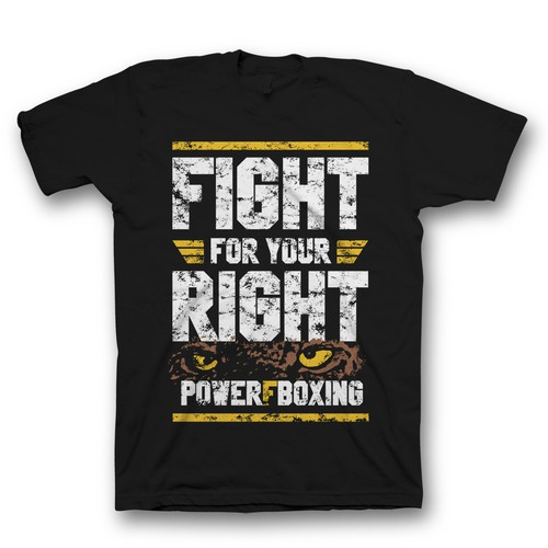 PowerFBoxing t shirt design