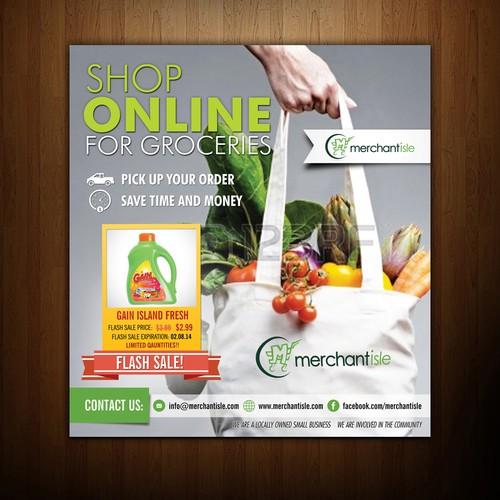 Ad for Online Retailer in newspaper