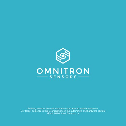 Omnitron Logo, looking for clever use of an eye in logo design