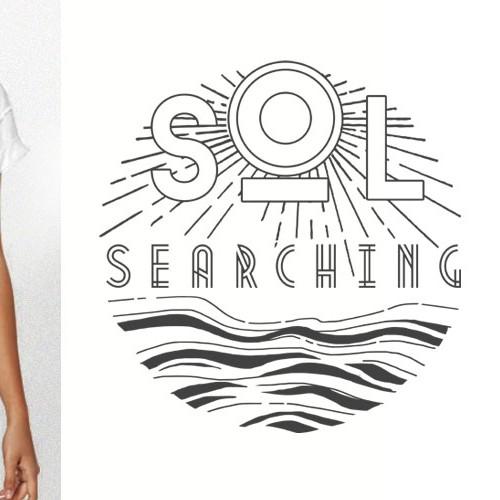 Retro nautical style Tshirt Design