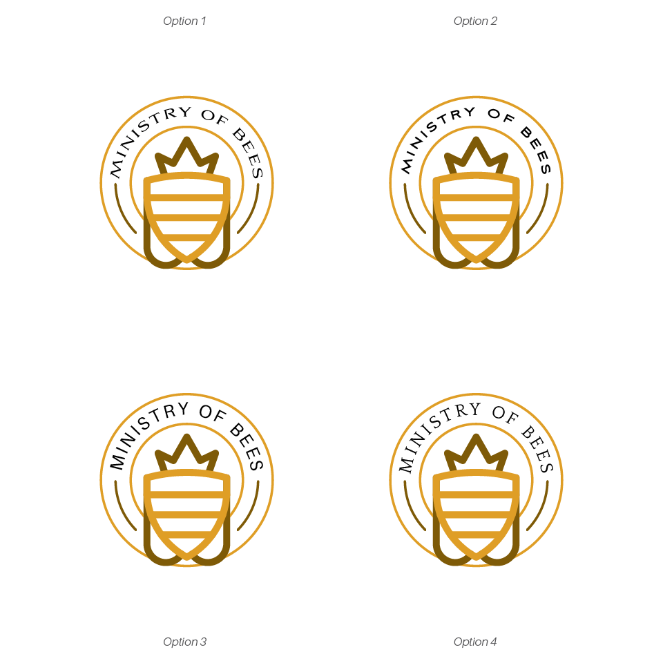 Create a Strong Graphic logo for the Ministry of Bees